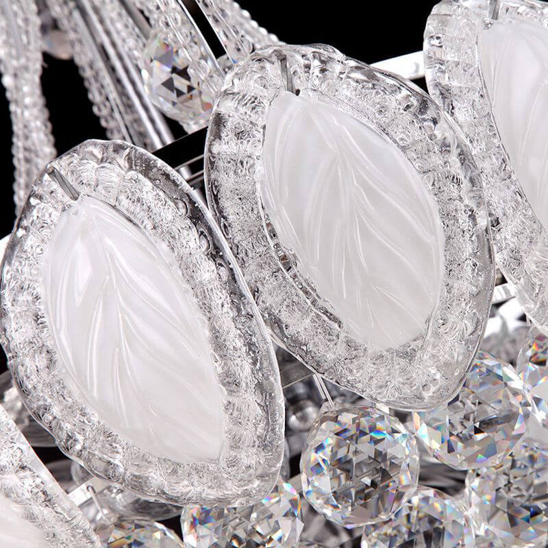 Carved Glass Leaves