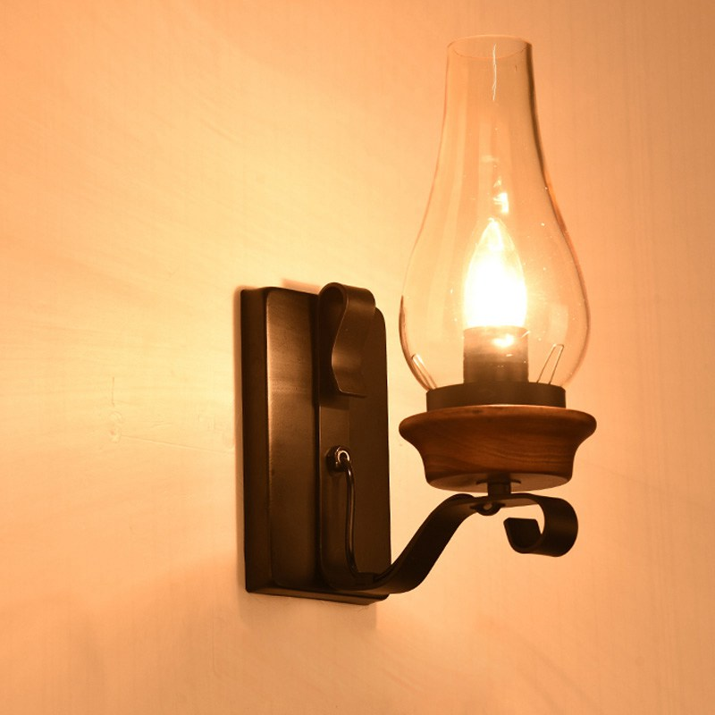 Copper wall lamp turn off