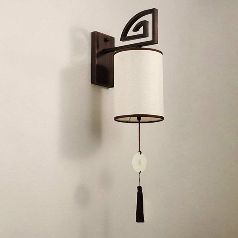Copper wall lamp turn on